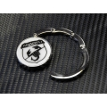 Purse Hook - ABARTH Scorpion (Chrome w/ White Background and Black Logo)