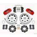 FIAT 500 Brake Conversion Kit - Wilwood DynoPro 6 Piston Front Brake Kit (Red Powder Coat Calipers / SRP Drilled & Slotted Rotors)
