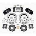 FIAT 500 Brake Conversion Kit - Wilwood DynoPro 6 Piston Front Brake Kit (Black Powder Coat Calipers / SRP Drilled & Slotted Rotors)