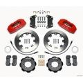 FIAT 500 Brake Conversion Kit - Wilwood DynoPro 6 Piston Front Brake Kit (Red Powder Coat Caliper / Plain Faced Rotors)
