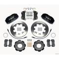 FIAT 500 Brake Conversion Kit - Wilwood DynoPro 6 Piston Front Brake Kit (Black Powder Coat Calipers / Plain Faced Rotors)