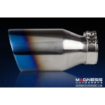 FIAT 500 ABARTH Performance Exhaust by MADNESS - 1.4L Turbo - Dual Tip / Dual Exit - Blue Flame Tips
