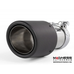 "FIAT 500 Custom Carbon Fiber Exhaust Tips by MADNESS (2) - Carbon Fiber -  2.75"" ID - Scratch & Dent"