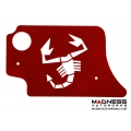FIAT 500 ABARTH/ 500T Engine Cover for MAXFlow Intake System - Scorpion Design - Red