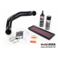 FIAT 500 ABARTH / 500T Factory Air Filter Housing Upgrade Kit - Black Silicone - Deluxe Kit w/ K&N Filter (2015 - on models)