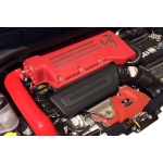 FIAT 500 ABARTH / 500T Factory Air Filter Housing Upgrade Kit - Red Silicone - Deluxe Kit w/ K&N Filter (pre 2015 models)