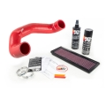 FIAT 500 ABARTH / 500T Factory Air Filter Housing Upgrade Kit - Red Silicone - Deluxe Kit w/ BMC Filter (2015 - on model)
