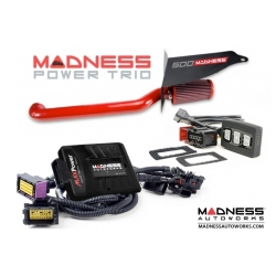 FIAT 500 ABARTH MADNESS Power Trio (Red) - Engine Module, GOPedal & Intake Combo (2015 - on Models)