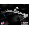 FIAT 500 ABARTH Performance Exhaust by MADNESS - Dual Tip / Dual Exit - Black Tips