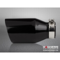 "FIAT 500 Custom Gloss Black Exhaust Tip by MADNESS (1) - Gloss Black -  2.5"" ID"