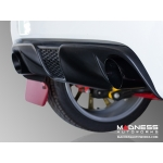 "FIAT 500 Custom Gloss Black Exhaust Tips by MADNESS (2) - Gloss Black -  2.5"" ID"