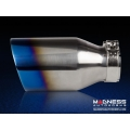 "FIAT 500 Custom Stainless Steel Exhaust Tip by MADNESS (1) - Blue Flame Tip -  2.5"" ID"
