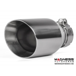 "FIAT 500 Custom Stainless Steel Exhaust Tip by MADNESS (1) - Stainless Steel -  2.75"" ID"