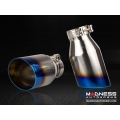 "FIAT 500 Custom Stainless Steel Exhaust Tips by MADNESS (2) - Blue Flame Tip -  2.5"" ID"