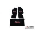 FIAT 500 Floor Mat Set by 500 MADNESS  - Set of 5 Mats (Front, Rear & Trunk) (w/o Bose System Cut Out)