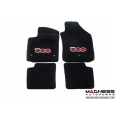 FIAT 500 Floor Mats by MADNESS - Set of 4 (Front & Rear) Deluxe