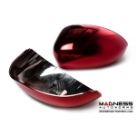FIAT 500 Mirror Covers - Red Metallic Chrome Finish