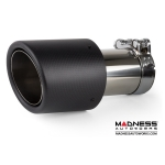 FIAT 500 Performance Exhaust by MADNESS - 1.4L Turbo - Dual Tip / Dual Exit - Carbon Fiber Tips