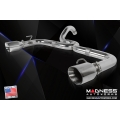 FIAT 500 Performance Exhaust by MADNESS - 1.4L Turbo - Dual Tip / Dual Exit - Polished Slash Cut Tips