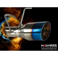 FIAT 500 Turbo Performance Axle Back Exhaust System by MADNESS - Blue Flame Finish Tip