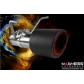 FIAT 500 Turbo Performance Axle Back Exhaust System by MADNESS - Carbon Fiber
