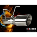 FIAT 500 Turbo Performance Axle Back Exhaust System by MADNESS - Polished Slash Cut Tip