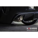 FIAT 500T Performance Exhaust by MADNESS / Rear Diffuser Kit - Dual Tip - Dual Exit (stainless steel axle back system)