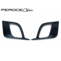 FIAT 500 ABARTH / 500T Front Side Air Duct Diffuser Set by Feroce - Carbon Fiber (North American Model)