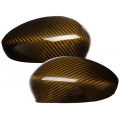 FIAT 500 Mirror Covers in Carbon Fiber - Gold