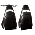 FIAT 500 ABARTH Carbon Fiber Sabelt Seat Trim Kit by Feroce - Carbon Fiber