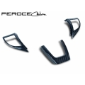 FIAT 500 ABARTH/ 500T Steering Wheel Trim Set by Feroce (3 pieces) - Carbon Fiber