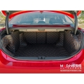 Alfa Romeo Giulia Cargo Area Liner Kit - w/ out Premium Sound - Black w/ Orange Stitching
