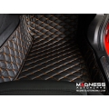 Alfa Romeo Giulia Floor Liner Set - Black w/ Orange Stitching - QV/ Quadrifoglio