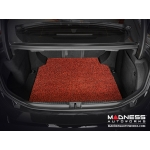 Alfa Romeo Giulia All Weather Cargo Mat - Soft Touch PVC Loop - Red/ Black