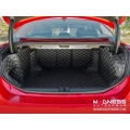 Alfa Romeo Giulia Cargo Area Liner Kit - w/ out Premium Sound - Black w/ White Stitching