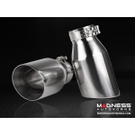 Alfa Romeo Giulia 2.0L Performance Exhaust by MADNESS - Monza - Dual Side Exit - Slash Cut Stainless Steel Tips