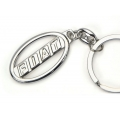 FIAT 500 Keychain - Chrome Ring with Cut Out FIAT Logo