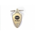 "FIAT 500 Keychain - ""Arrow Head"" Metal w/ Blue FIAT Logo"