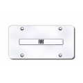 FIAT 500 License Plate - Stainless Steel Plate w/ a Plate & Embossed FIAT Logo