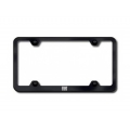 FIAT 500 License Plate Frame (Wideplate) - Black w/ FIAT Logo