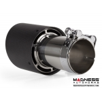 "FIAT 500 Custom Carbon Fiber Exhaust Tip by MADNESS (1) - Carbon Fiber -  2.5"" ID"