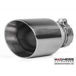 "FIAT 500 Custom Stainless Steel Exhaust Tips by MADNESS (2) - Stainless Steel -  2.5"" ID"