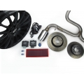 "FIAT 500 Magneti Marelli Performance Kit w/ 17"" Satin Black Wheels - Fits ABARTH/ 500T"
