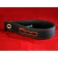 FIAT 500 Trunk Handle / Pull Strap - Black w/ Red Stitch and a Red 500 Logo