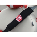 FIAT 500 Seat Belt Shoulder Pads (set of 2) - FIAT Logo