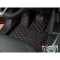 Alfa Romeo Stelvio Floor Liner Set - Black w/ Red Stitching