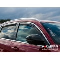 Alfa Romeo Stelvio Side Window Air Deflectors - Front/ Rear 4 Piece Set - Mini Deflectors