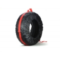 Tire Bag/ Tote - Standard - Black/ Red (set of 4)