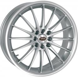"FIAT 500 Custom Wheels by Team Dynamics - Jet - 17"" - Hi Power Silver"