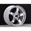 FIAT 500 Custom Wheels - Competizione 17x7.5 (set of 4) - GTR Design - Polished Face/ White Back